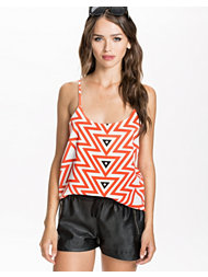 Dark Pink Arrow Print Slip Camisole