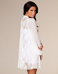 Paprika - Lace Back Chiffon Shirt