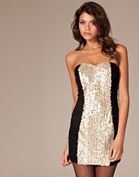 Paprika - Sequin Bandeau Dress