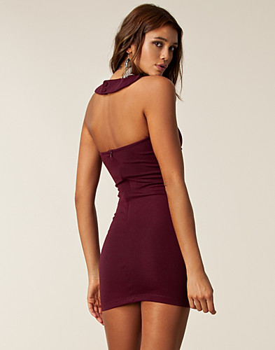 PARTY DRESSES - PAPRIKA / CROCHET NECK BODYCON - NELLY.COM