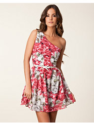 Paprika Floral One Shoulder Dress