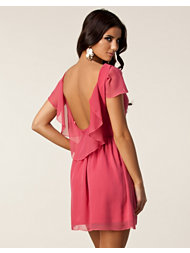 Paprika Chiffon Low Back Dress
