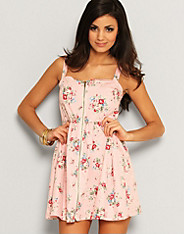 Iska - Dusty Floral Zip Dress