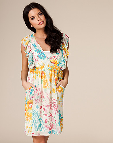 PARTYKLEIDER - AWEAR / FLORAL RUFFLE DRESS - NELLY.AT