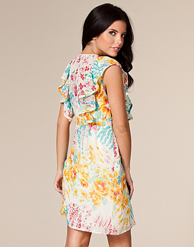FEESTJURKEN - AWEAR / FLORAL RUFFLE DRESS - NELLY.COM