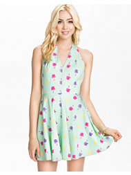 LOVE Halter Neck Skater Dress