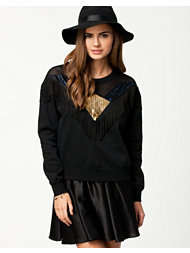 MinkPink Black Star Jumper