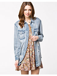 MinkPink Blue Monday Denim Shirt