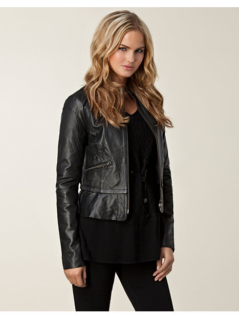 State Leather Jacket - Very By Vero Moda - Black - Jackets And Coats - Clothing - Women - Nelly.com