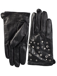 Selected Femme Studs Leather Gloves