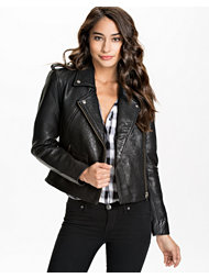 Selected Femme Buff Leather Jacket
