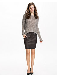 Selected Femme Rust Leather Skirt