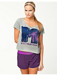 T-Shirts, Play MTV Animal Cropped Shirt, Only Play - NELLY.COM