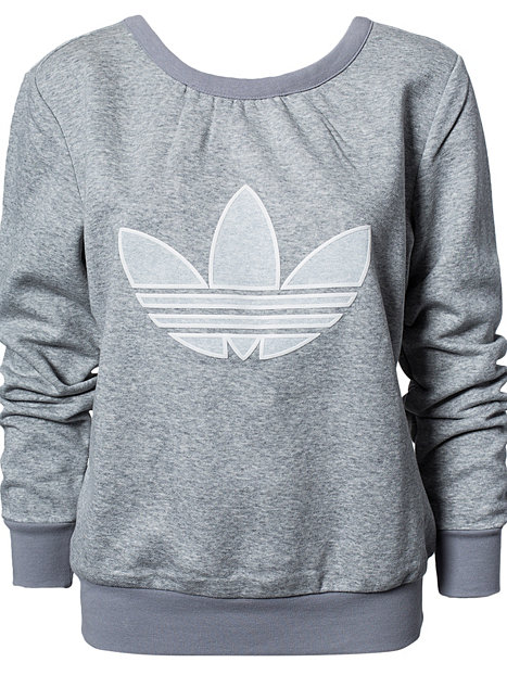 fle sweater adidas originals grau pullover. Black Bedroom Furniture Sets. Home Design Ideas