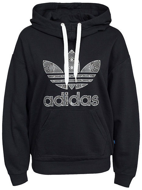 trefoil lg hood adidas originals schwarz pullover. Black Bedroom Furniture Sets. Home Design Ideas