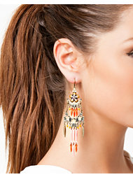 Pilgrim Flower Long Earrings