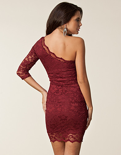 PARTY DRESSES - JOHN ZACK / LACE DRESS ONE SHOULDER - NELLY.COM