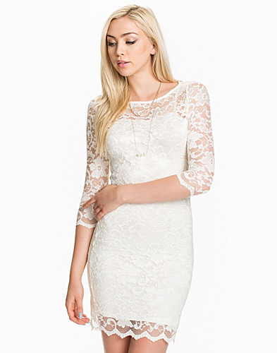 FESTKLÄNNINGAR - JOHN ZACK / SLASH NECK LACE DRESS - NELLY.COM