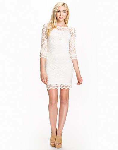PARTYKLEIDER - JOHN ZACK / SLASH NECK LACE DRESS - NELLY.DE