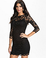 John Zack - Slash Neck Lace Dress