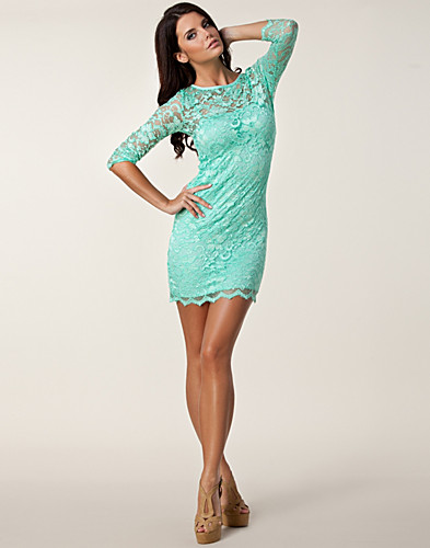 PARTY DRESSES - JOHN ZACK / SLASH NECK LACE DRESS - NELLY.COM