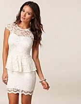 LACE PEPLUM DRESS
