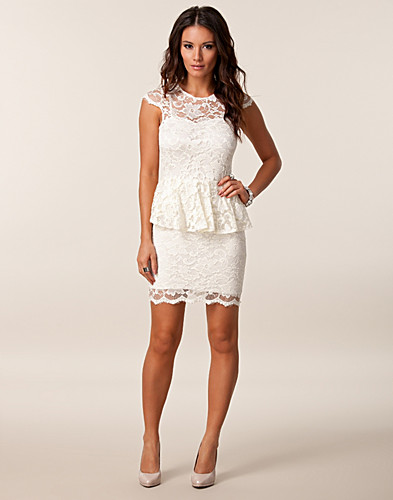 PARTY DRESSES - JOHN ZACK / LACE PEPLUM DRESS - NELLY.COM