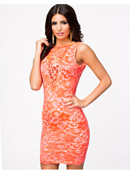 John Zack Low Back Lace Short Dress