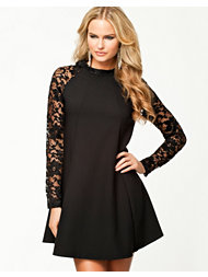 John Zack LS Lace Shift Dress