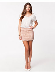 John Zack Heavy Lace Mini Skirt