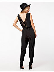 John Zack Lace Detail Back Jumpsuit