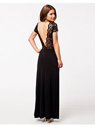 John Zack Deep V Back Maxi Dress