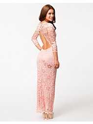 John Zack Lace Split Maxi Dress
