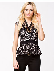 John Zack Deep Lace Top