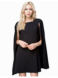John Zack Open Sleeve Cape Short Dress
