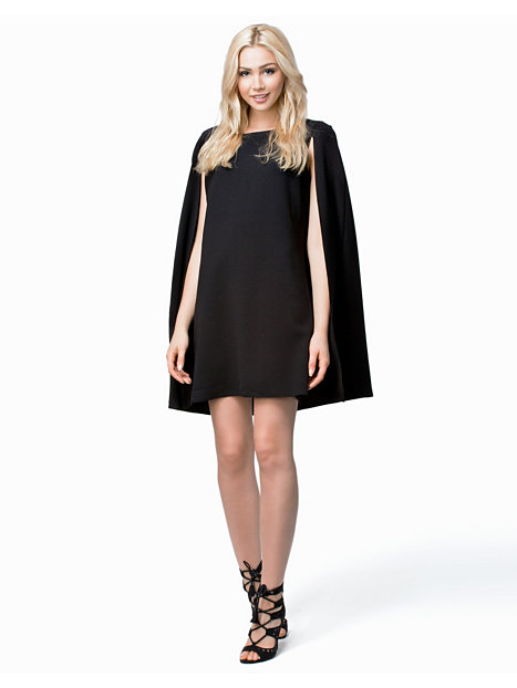 Open Sleeve Cape Short Dress