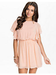 John Zack Chiffon Frill Sleeve Dress