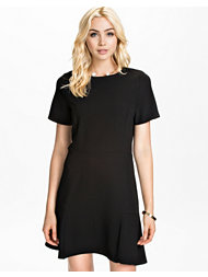 John Zack Short Sleeve Crepe Dress