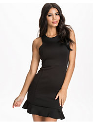 John Zack Scuba Bodycon Frill Dress