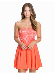 John Zack Floral Lace Babydoll Dress