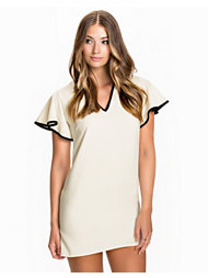 John Zack Frill Sleeve Shift Dress