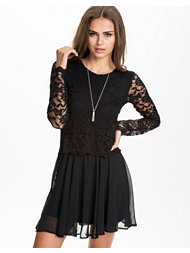John Zack LS Lace Top Dress