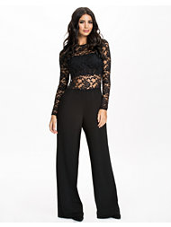 John Zack Lace Back Zip Jumpsuit