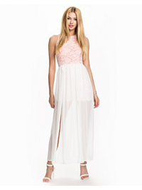 Festkjoler, Lace & Chiffon Maxi Dress, John Zack - NELLY.COM
