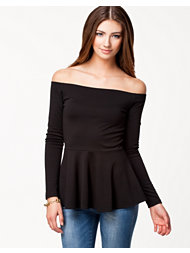NLY Trend Off Shoulder Peplum Top