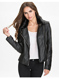 NLY Trend Fur Collar Biker Jacket