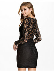 NLY Trend Lace Slim Draped Dress
