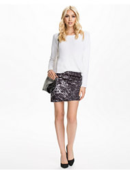 NLY Trend Assymetric Printed Scuba Skirt