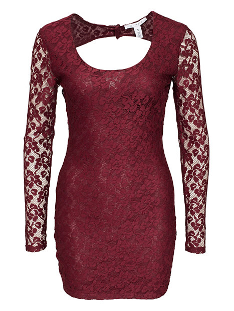 prime lace dress nly trend burgundy dresses