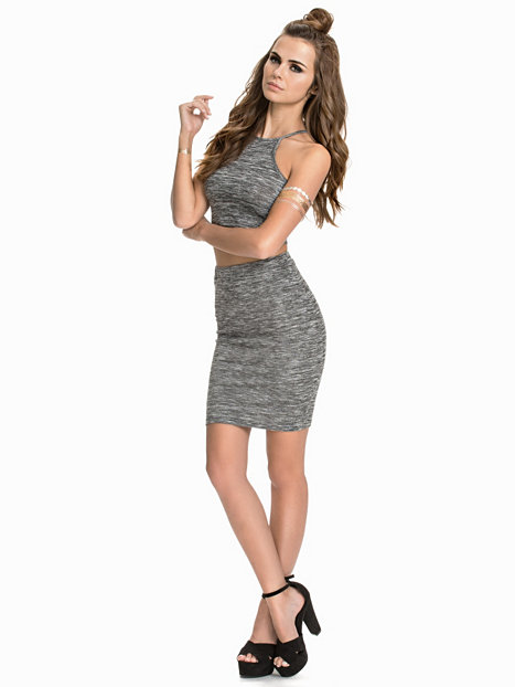 Too cool for school set nly trend grau melange - Coole partykleider ...
